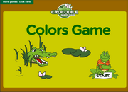 Colors Vocabulary Crocodile Board Game