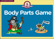 Body Parts ESL Interactive Pirate Board Game