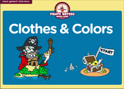 Clothes Colors Vocabulary ESL Interactive Board Game