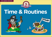 Telling Time, Daily Routines ESL Interactive Vocabulary Board Game