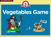 Vegetables Vocabulary ESL Interactive Board Game