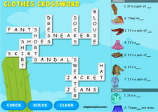 Clothes Interactive Crossword