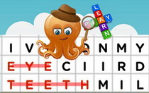 Body Parts Interactive Word Find