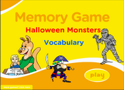 Halloween Costumes ESL Vocabulary Memory Game