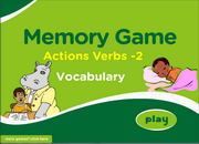 Action Verbs Memory Game for ESL Practice for Beginners