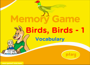 Birds Vocabulary ESL Memory Game