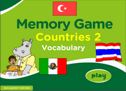 Countries ESL Vocabulary Memory Game with Flags – Medium