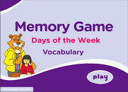 Days of the Week ESL Vocabulary Game