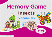 Insects Vocabulary, ESL, Memory Game, mosquito, cockroach, bug, fly, bee, caterpillar