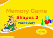 Shapes Vocabulary ESL Memory Game – Easy