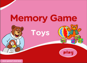 Toys Vocabulary ESL Memory Game