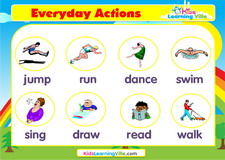 Actions vocabulary video