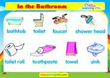 Bathroom vocabulary video