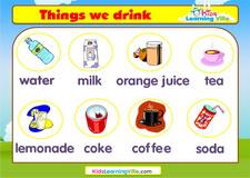 Drinks vocabulary video