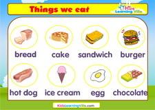 Food vocabulary video