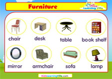 Furniture vocabulary video