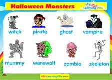 Halloween vocabulary video