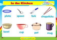 Kitchen vocabulary video
