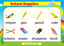 Stationery school supplies vocabulary video