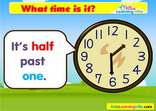 Time half past vocabulary video