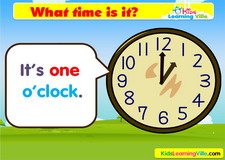 Time oclock vocabulary video
