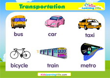 Transportation vocabulary video
