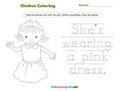 Girl clothes coloring