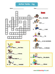 Actions crossword 3