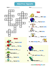 Adjectives crossword