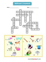 Bathroom crossword