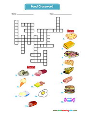 Food crossword