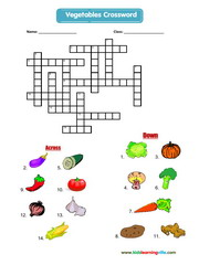 Vegetables crossword