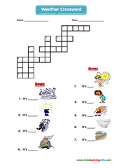 Weather crossword