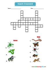 Insects crossword