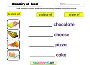 Food quantity