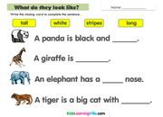 Zoo animals description