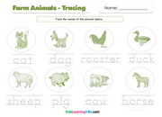 Farm animals tracing