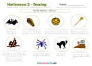 Halloween tracing 2