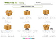 Prepositions of place tracing
