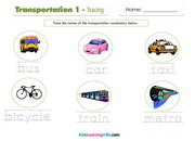Transportation 1 tracing