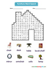 Furniture Wordsearch
