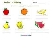 Fruits writing 1