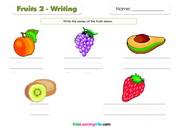 Fruits writing 2