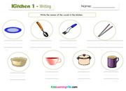 Kitchen 1 writing