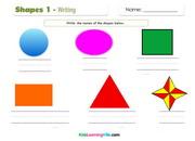 Shapes writing 1