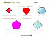 Shapes writing 2