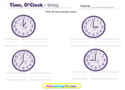 Time oclock writing clocks