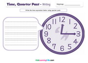 Time quarter past writing