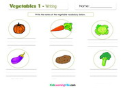 Vegetables 1 writing