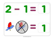 Subtraction of 1 flashcards